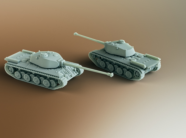FCM 50T French Heavy Tank Scale: 1:160 in Smooth Fine Detail Plastic