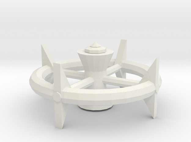 Space Station type 3 in White Natural Versatile Plastic