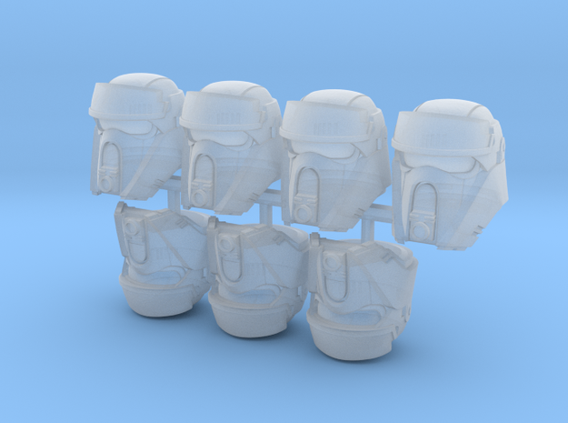 Beach Bucketheads (x7) in Smoothest Fine Detail Plastic