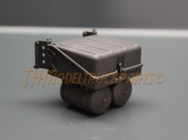THM 00.3802 Battery box Tamiya Actros in Black Natural Versatile Plastic