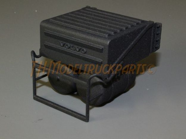 THM 00.5801 Battery box + step Tamiya Volvo FH12 in Black Natural Versatile Plastic