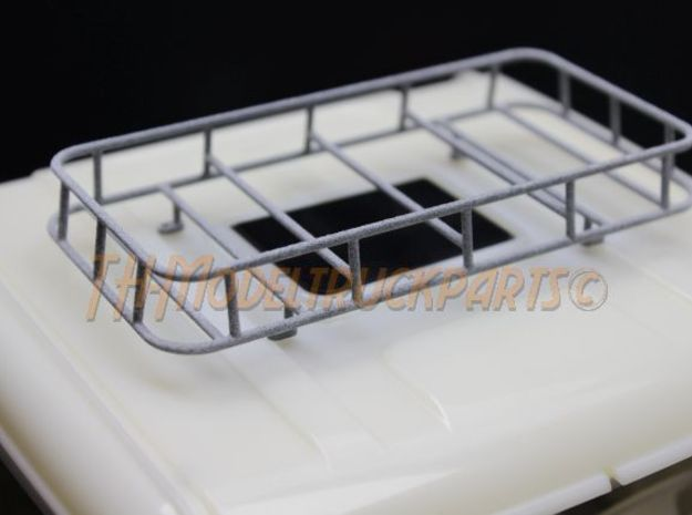 THM 07.0010 Roof rack small tapered Tamiya trucks in White Processed Versatile Plastic