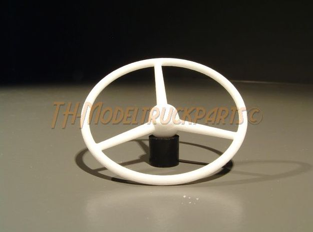 THM 07.0015 Old School steering wheel in White Processed Versatile Plastic
