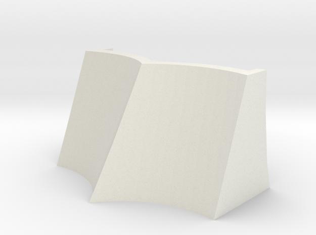 Standard Classic Era TWR Snowplow in White Natural Versatile Plastic