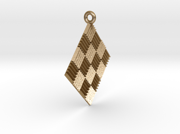 Triangl Reflrctors Pendant in Polished Gold Steel
