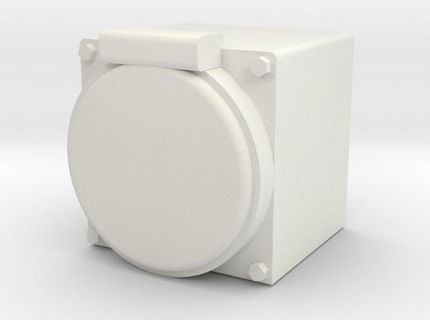 "Faux MU Box 1.5"" scale in White Natural Versatile Plastic"