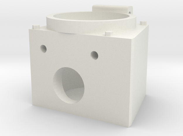 "Angle MU Box for 12 pin connector 1.5"" scale in White Natural Versatile Plastic"