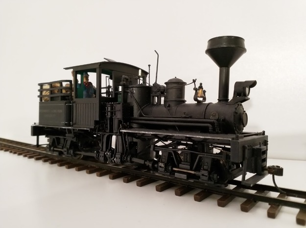 On30 Diamond Spark Arrestor for Bachmann Shay in Smooth Fine Detail Plastic