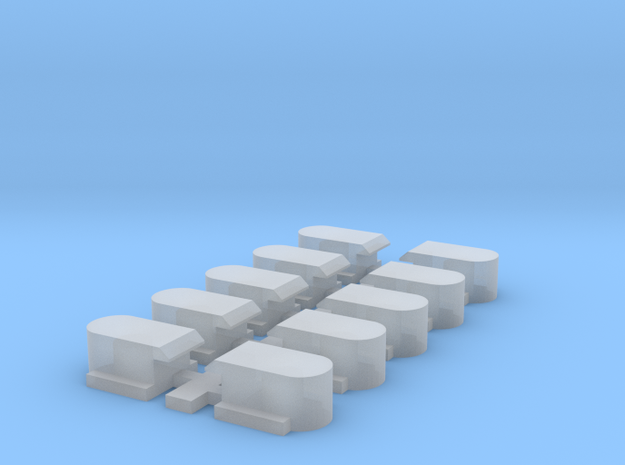 Brecon and Merthyr railway 4 wheel coach axle boxe in Smoothest Fine Detail Plastic