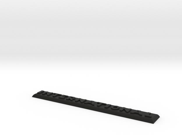 1Tenth Scale Redcat Gen8 International Badge in Black Natural Versatile Plastic