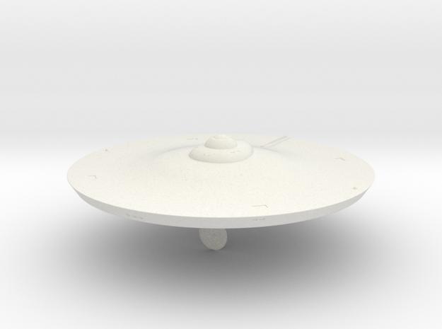 2500 TOS saucer v1 in White Natural Versatile Plastic
