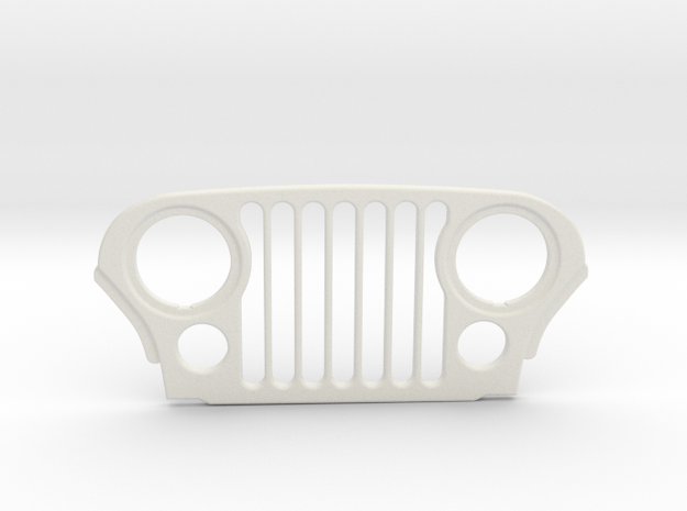Tamiya Wrangler YJ to CJ7 Grill Conversion in White Natural Versatile Plastic