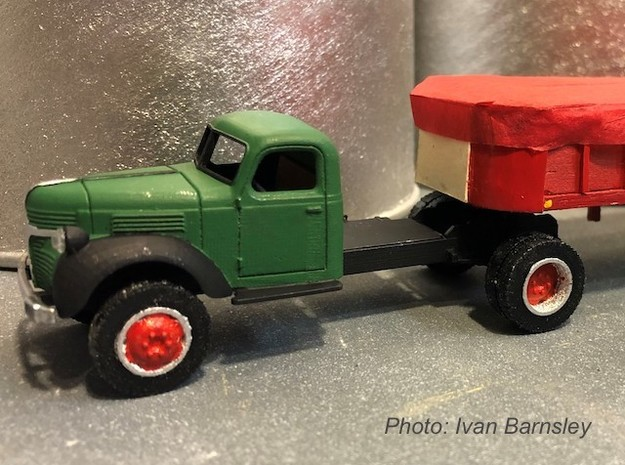 S scale 1/64 - Dodge Semi Tractor in Smooth Fine Detail Plastic