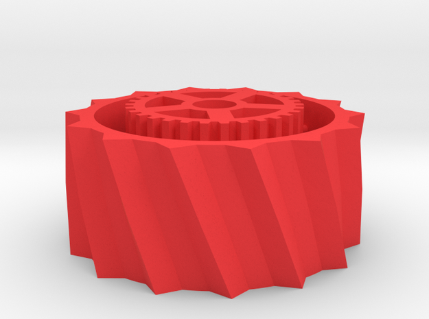 Steam Combine Drive Wheel in Red Processed Versatile Plastic
