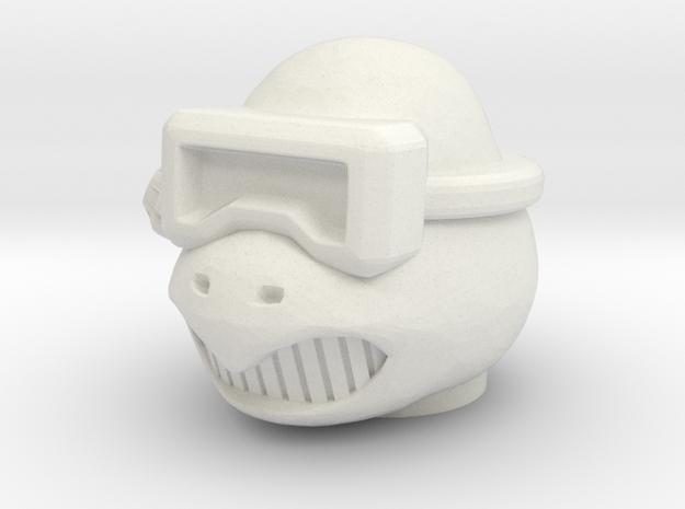 Turly Gang Tertius Head - Multisize in White Natural Versatile Plastic: Medium