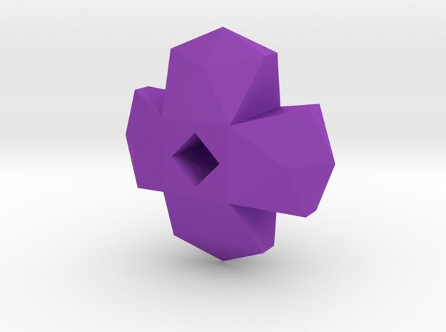 geommatrix f134 cross 1  in Purple Processed Versatile Plastic