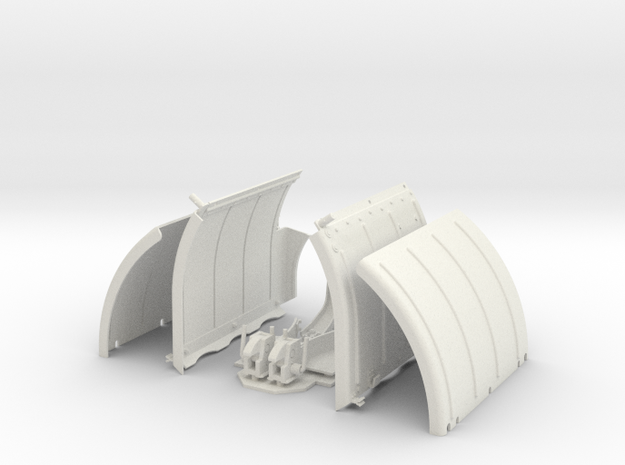 Panther A fenders 1/10th scale in White Natural Versatile Plastic