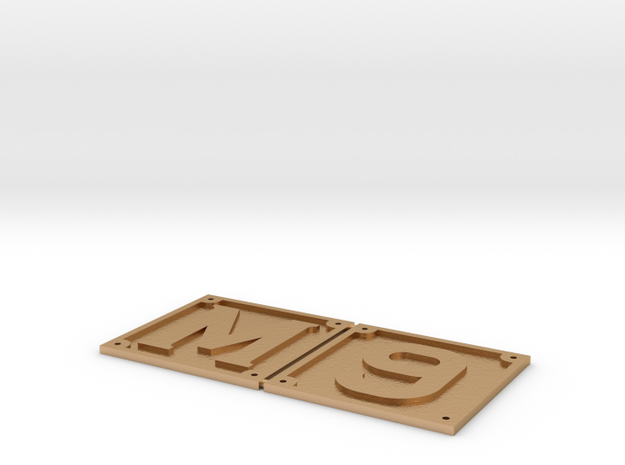 1.5 inch scale M6/9 front buffer beam numbers in Natural Bronze
