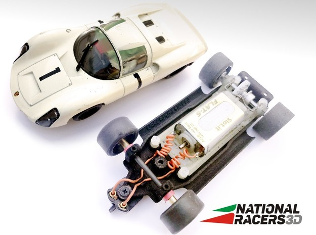 Chassis - MRRC Porsche 910 (Inline) in Black PA12