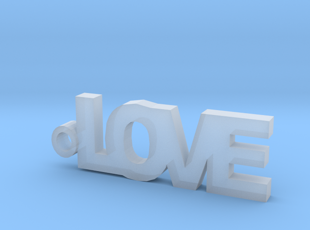 Love Keychain in Smooth Fine Detail Plastic