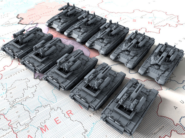 1/700 Russian BMPT-72 Terminator 2 AFV x10 in Smoothest Fine Detail Plastic