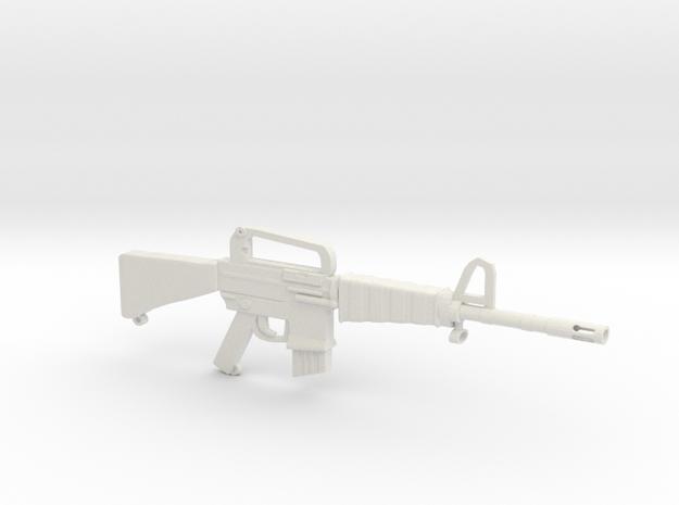 M16A1 v2 in White Natural Versatile Plastic