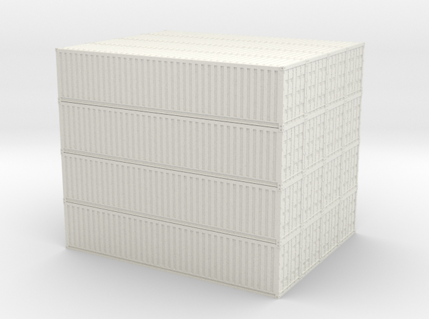 N Container Stack 4x4 in White Natural Versatile Plastic