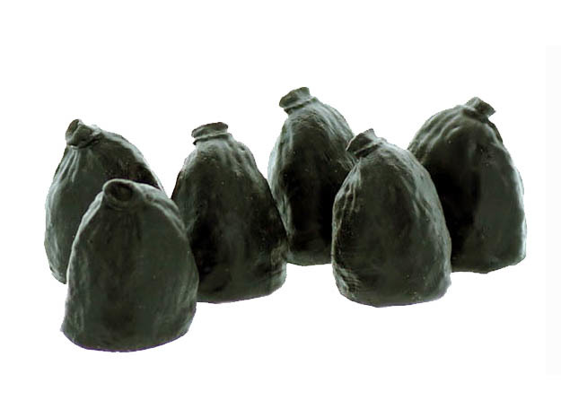 Garbage Bags HO scale 6 Pack in White Natural Versatile Plastic