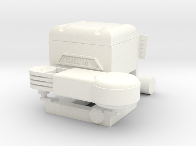 "1990's Drum ""Look-a-Like"" Compressor in White Processed Versatile Plastic"