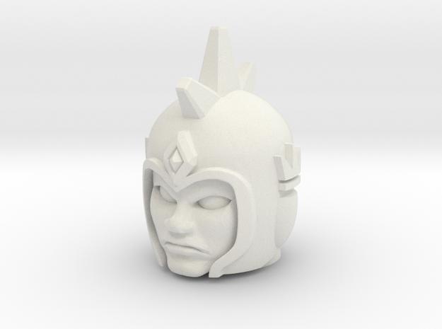 Thor / Aquarius / Gen. Agus Head - Multiscale in White Natural Versatile Plastic: Medium