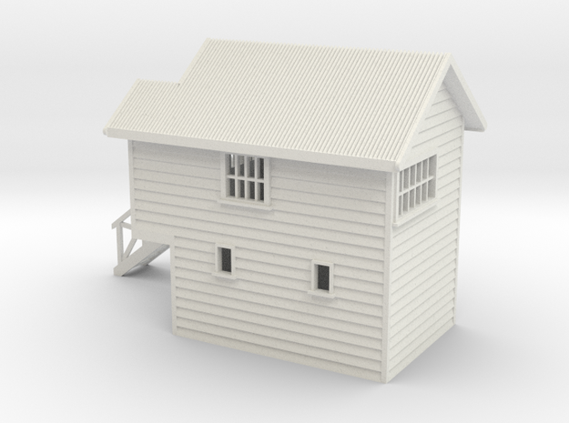 S Scale NZR Signal Box 1:64 in White Natural Versatile Plastic