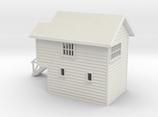 S Scale NZR Signal Box 1:64 in White Natural Versatile Plastic
