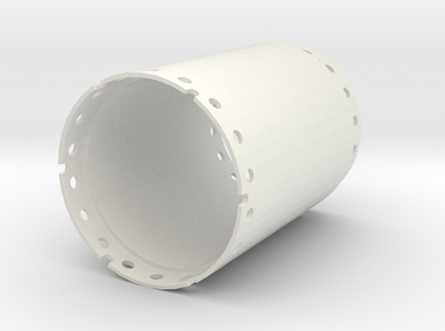 Casing joint 1500mm, length 2,00m in White Natural Versatile Plastic
