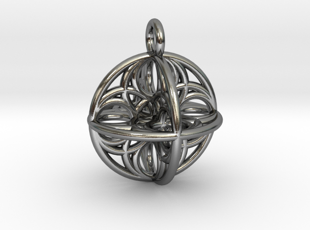 Eggsense 3D in Polished Silver