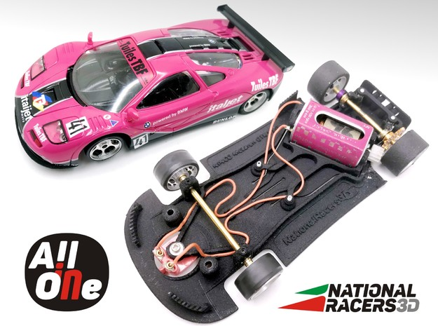 Chassis - NINCO McLaren GTR (Anglewinder AiO) in Black PA12