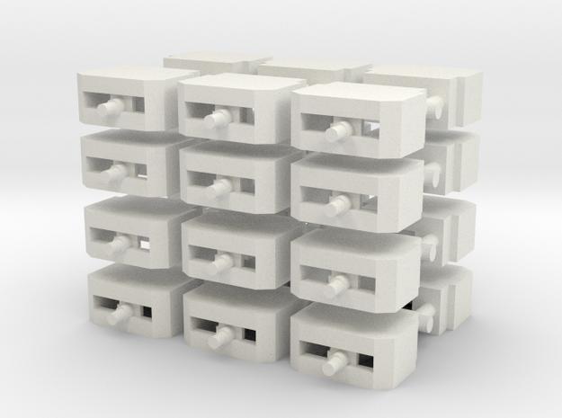 1/285 German Bunker x24 in White Natural Versatile Plastic