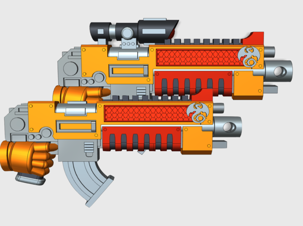 Void Drakes: 10x Prime Bolter-X1S in Smooth Fine Detail Plastic