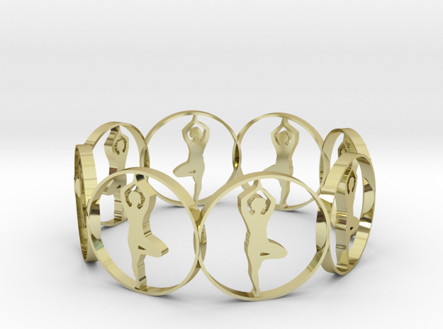 13 (1) in 18k Gold Plated Brass