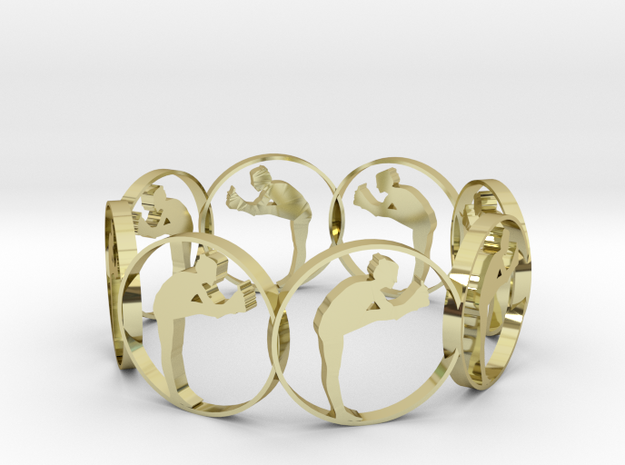 03yoga in 18k Gold Plated Brass