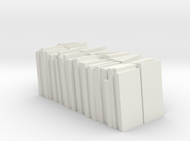 Slate Load for OO9 Slate Truck in White Natural Versatile Plastic