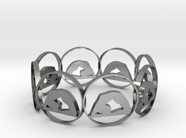 7 ring in Polished Silver