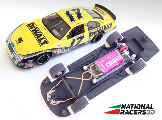 Chassis - SCX Ford FUSION 2006 (Combo) in Black Natural Versatile Plastic