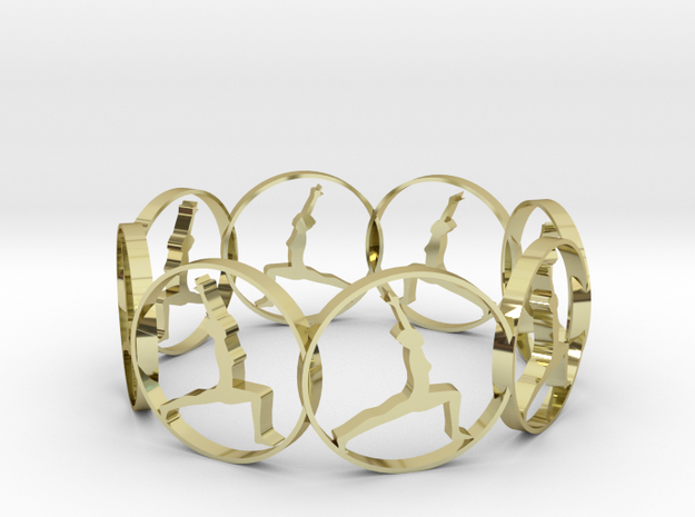 6 ring in 18k Gold Plated Brass