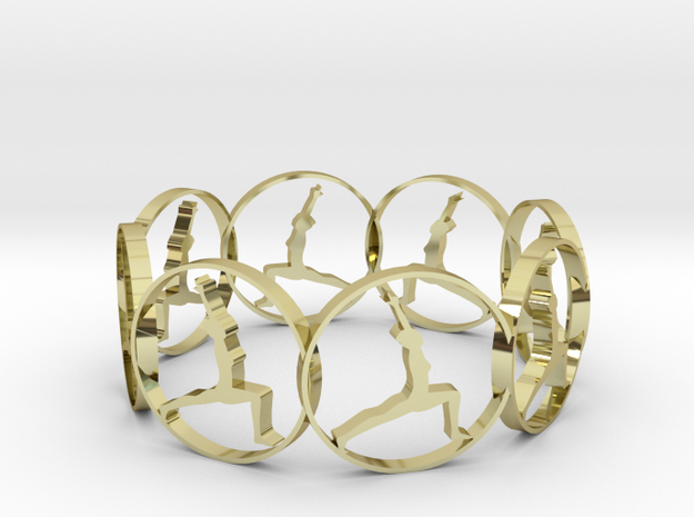 7 ring in 18k Gold Plated Brass