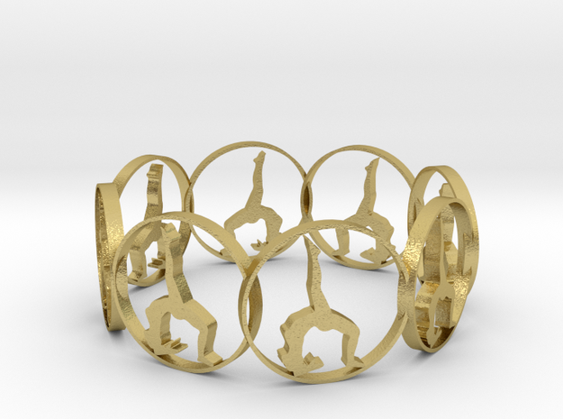yoga ring in Natural Brass