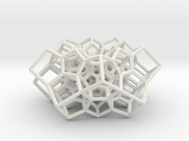 Partial 120-cell, torus-shaped in White Natural Versatile Plastic: Medium