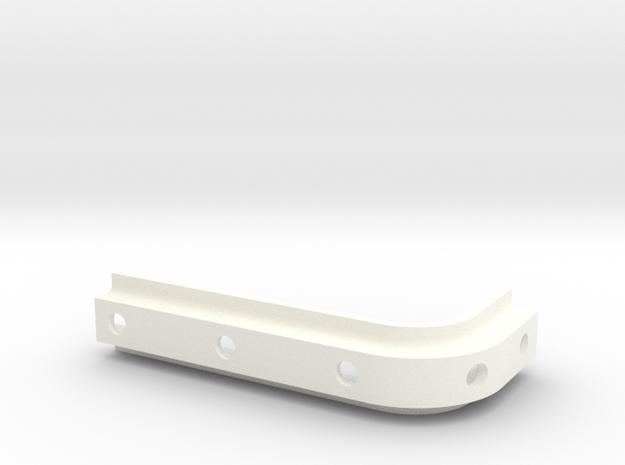 2 x Spoiler brkt set in White Processed Versatile Plastic