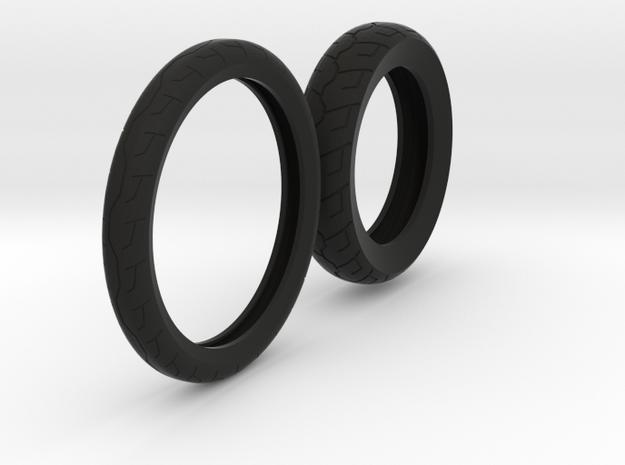 Tires for rims Iron 883 in Black Natural Versatile Plastic