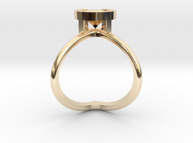 Cristopher's Engagement Ring in 14K Yellow Gold