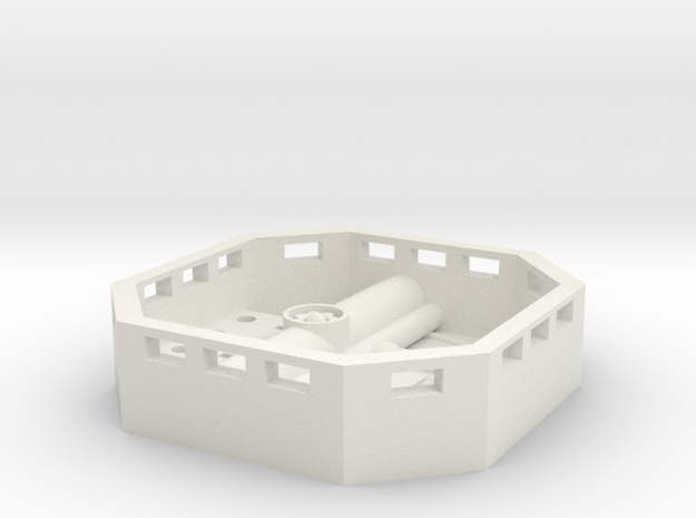 FALCON CARGO BAY ENGINEERING BAY in White Natural Versatile Plastic